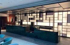 Agencement accueil hôtel Hilton par Atelier 41