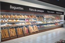 Triangle Mobilier espace boulangerie Leclerc