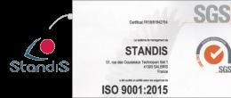 Standis certifié ISO 9001:2015