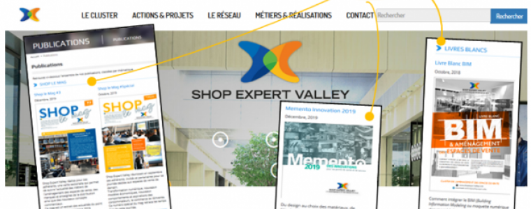 Nouvelle rubrique publications site Shop Expert Valley