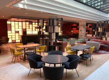 Agencement lobby hôtel Hilton par Atelier 41